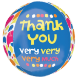 "16"" Thank You Very Very Very Much Orbz Foil Balloon"